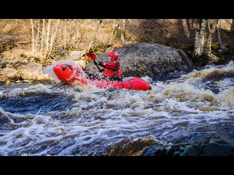 Packrafting Training On Whitewater - River Merikarvianjoki