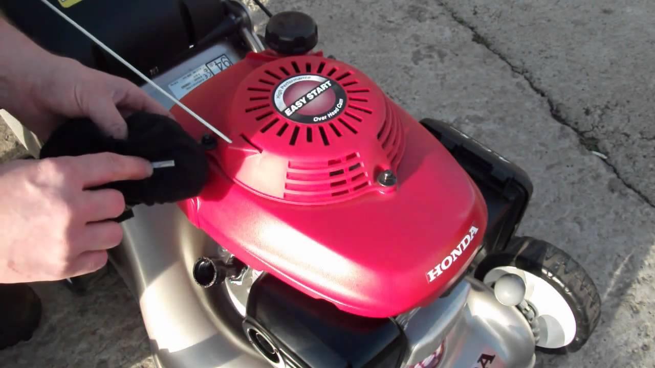 Honda Lawnmower Engine Oil Check  livgmcouk  YouTube