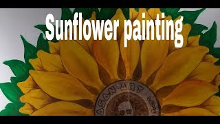 Sunflower Painting   Wall painting   ceiling Painting   time leap painting