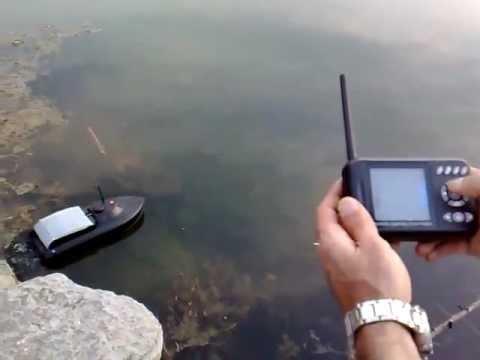 Радио Лодка для рыбалки с эхолотом - YouTube