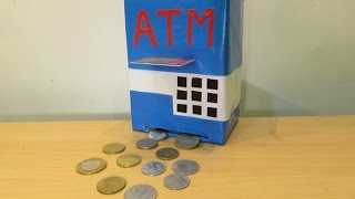 How to make a  ATM Machine Piggy Bank  Mini ATM Machine at Home - Easy Tutorial