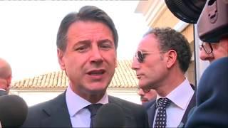 Visita in Calabria, punto stampa del Presidente Conte da Locri