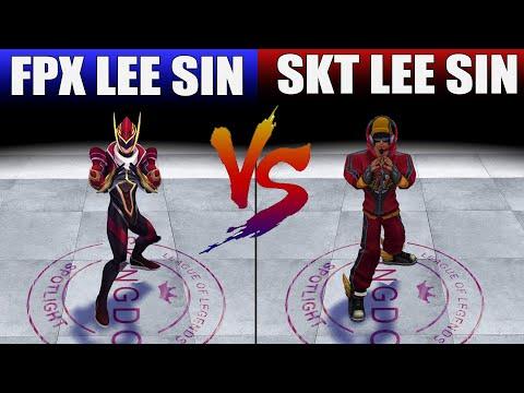 FPX Lee Sin vs SKT Lee Sin Skin Comparison (League of Legends)