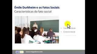 Sociologia: Aula ÉMILE DURKHEIM (megaaluno.com)