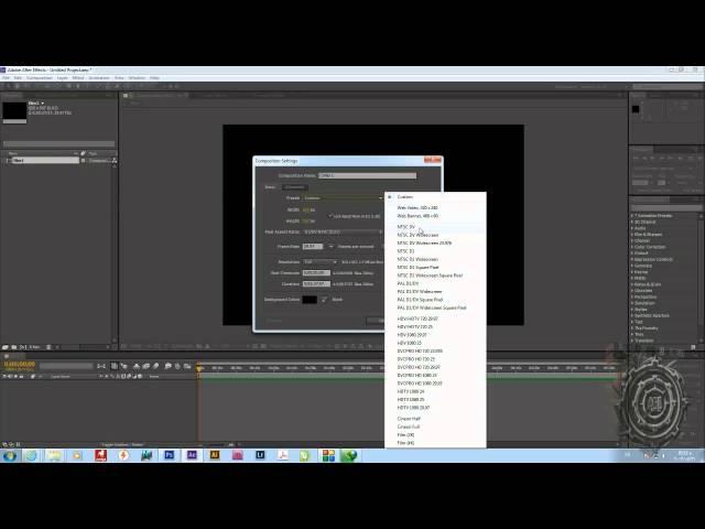 كورس AFTER EFFECTS CC& CS6 شرح البرنامج بالكامل المحاضرة الاولى (الجزء الثالث) HD
