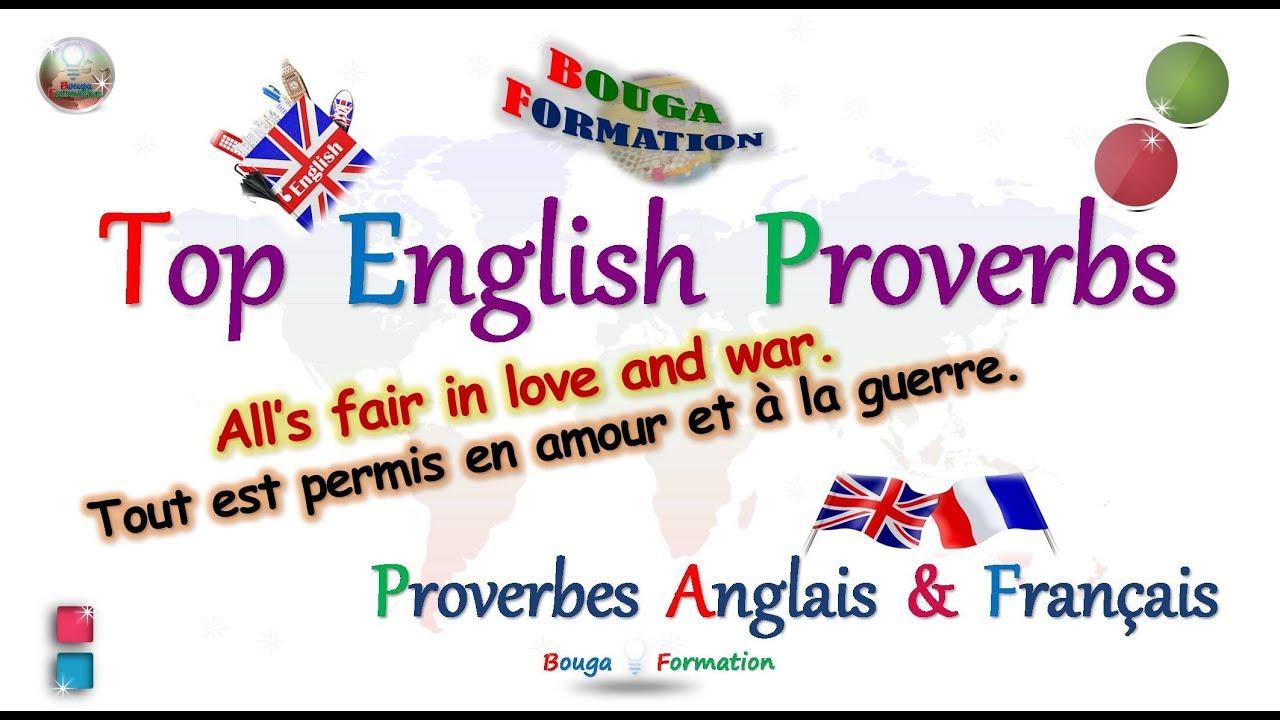 Top Important Popular English Proverbs Top Proverbes Anglais En Francais Youtube