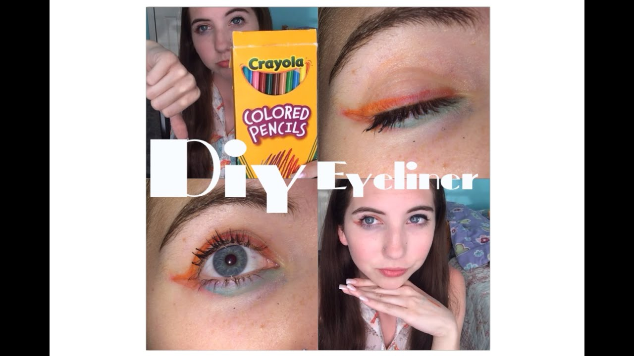 testing out diys colored pencil eyeliner youtube