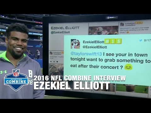 Ezekiel Elliott: Taylor Swift Didn't Respond to Ask-Out Tweet | 2016 NFL Combine Interviews