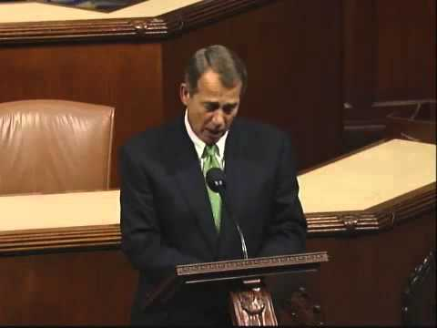 Congressman Boehner Thanks Departing Ohio Representatives for Their Service to the State