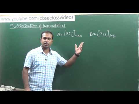Addition, Subtraction & Multiplication of Matrices | CBSE 12 Maths NCERT 3.2 intro