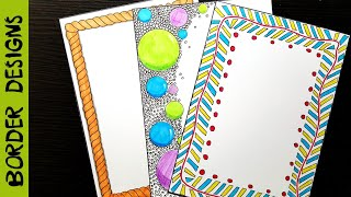 Simple   Border designs on paper   border designs   project work designs   borders for projects
