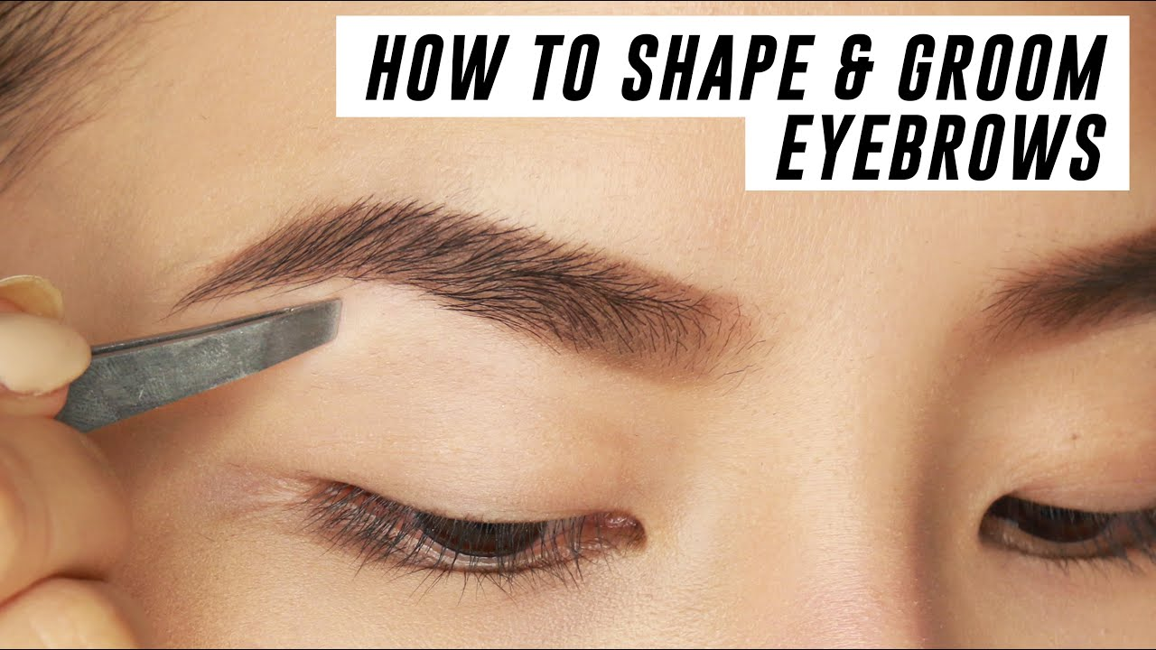 How To Shape Groom Eyebrows At Home Tina Yong Youtube