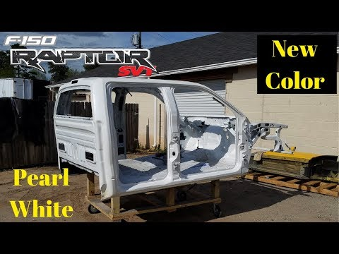 Rebuilding a Wrecked  Ford Raptor SVT bought from Copart Part 4