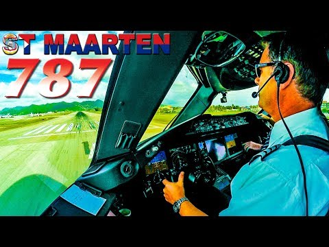Piloting the BOEING 787 Dreamliner out of St Maarten