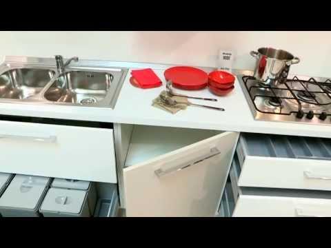 Cucina moderna con ante laccato opaco - YouTube