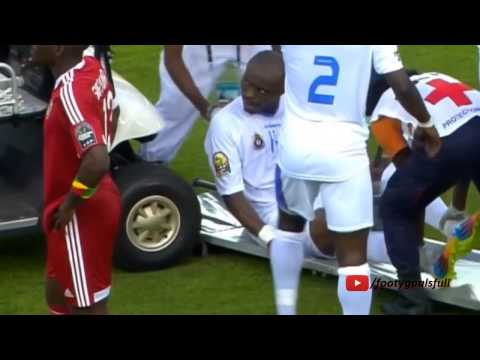 D R  Congo s player get hit with the medical cart at Africa Cup of Nations
