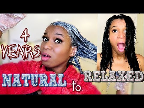 RELAXING MY NATURAL HAIR!!! After 4 Years Natural! | Live Reaction & Experience!