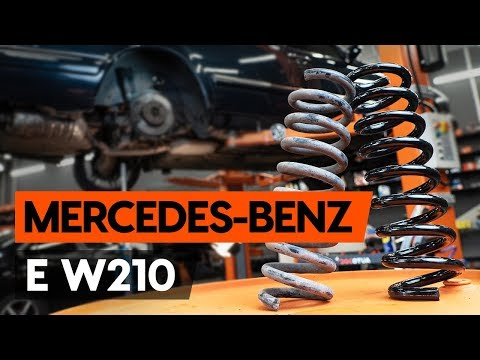 How to replace rear springs / rear coil springs onMERCEDES-BENZ E (W210) [TUTORIAL AUTODOC]