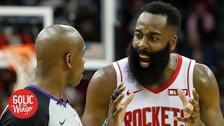Should the NBA eliminate the coach's challenge after the Rockets' blown call? | Golic and Wingo