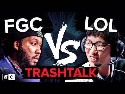 Who talks better trash? —  League of Legends VS the FGC(feat. Doublelift, K-Brad, Dyrus)