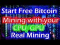 How to start CPU and GPU Bitcoin mining Fast|| bitcoin mining