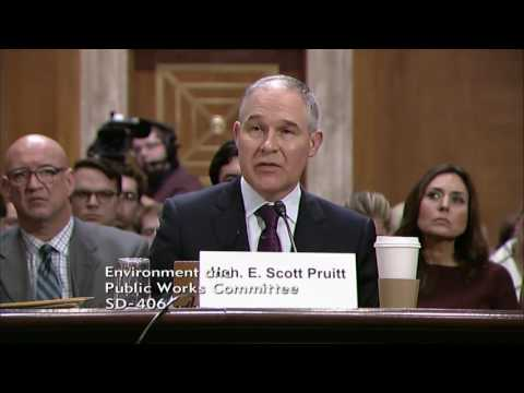 Chairman Barrasso Questioning Pruitt on Technological Solutions to Address Environmental Problems