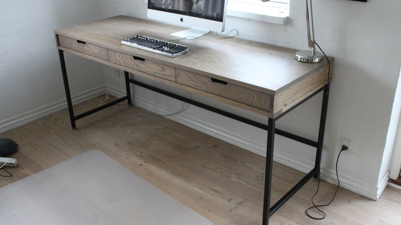 Making A Modern Oak Desk