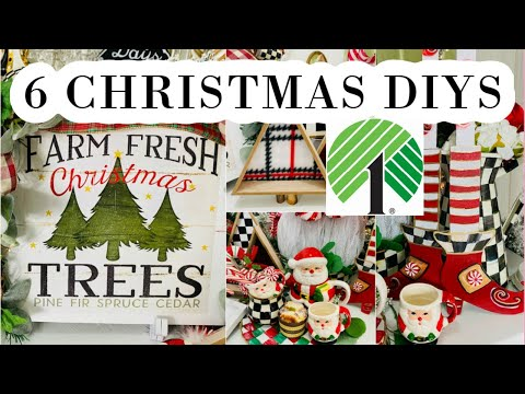 🎄6 DIY DOLLAR TREE CHRISTMAS DECOR CRAFTS 🎄