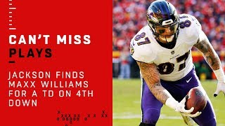 Lamar Jackson Finds Maxx Williams for a TD on 4th Down!