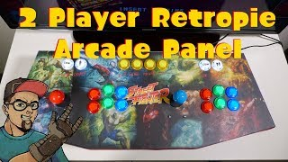 RetroPie 2 Player Arcade Stick Panel With Led Buttons & Sanwa Sticks