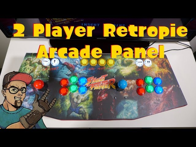 RetroPie 2 Player Arcade Stick Panel With Led Buttons & Sanwa Sticks