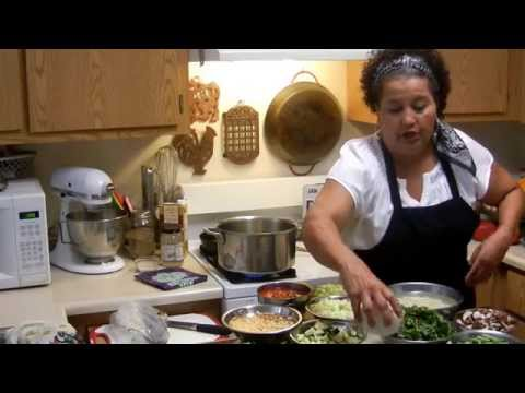 Mary's Making Garden Fresh Vegetarian Soup with Legumes! Part 1