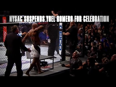 NYSAC Suspends Yoel Romero for Leaving Cage to Celebrate Win at UFC 205