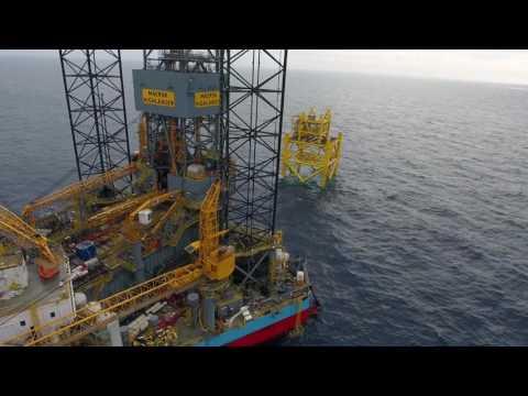 Maersk Oil - Maersk Highlander Rig Move (DJI PHANTOM 4 DRONE FLIGH IN 4K)