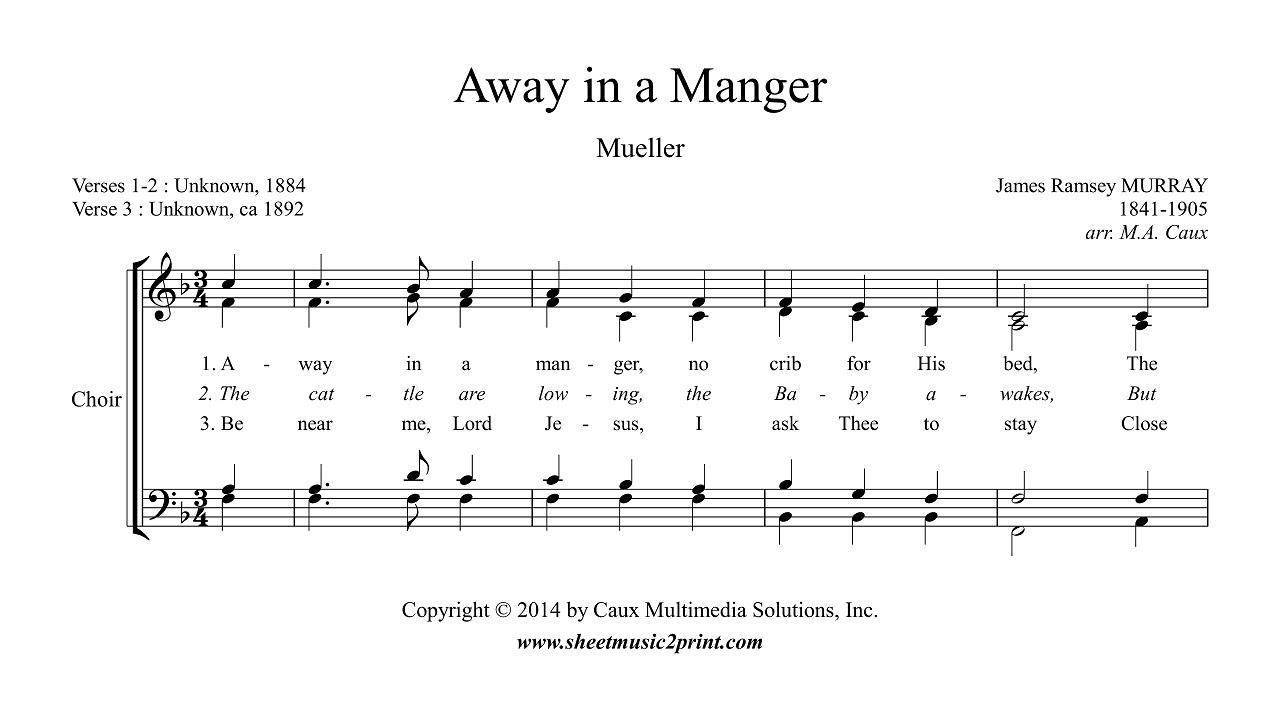 Murray : Away in a Manger - Choir SATB - YouTube