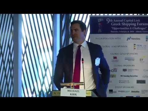 2018 9th Annual Greek Shipping Forum - Consolidation & M&A in Shipping