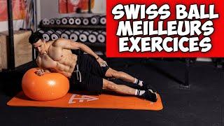스위스 볼 : 15 가지 최고의 운동! (플랫 배, 웨이트 트레이닝)
