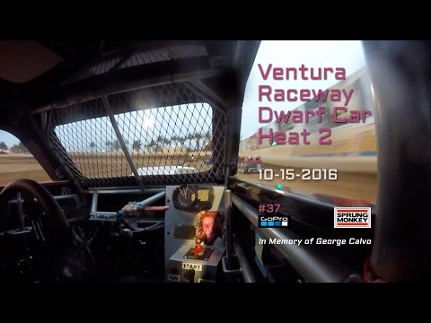 Ventura Raceway Dwarf Car Heat 2 10-15-2016 • Featuring music by Sprung Monkey.