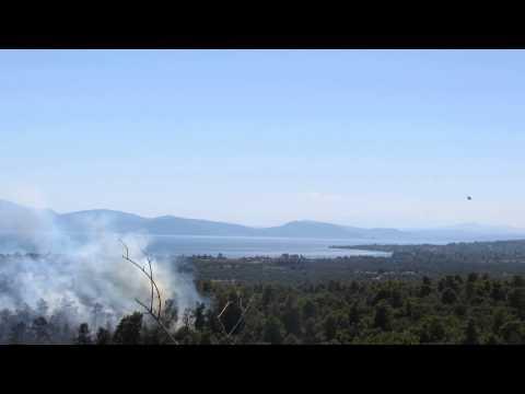 Πυρκαγιά στα Πολιτικά Ευβοίας 2014 (Fire at Evia Island)