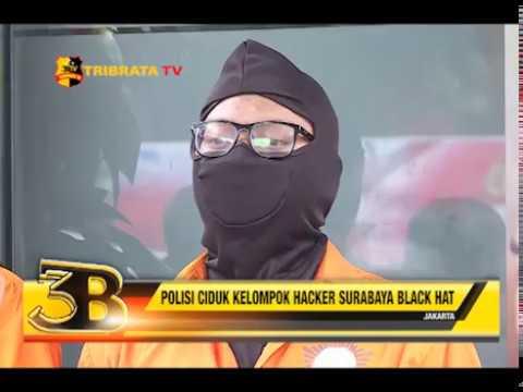 POLISI CIDUK KELOMPOK HACKER SURABAYA BLACK HAT