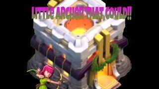Clash Of Clans - 1 Heroic Little Archer Destroys TH11