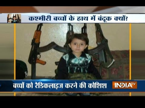 Photo of Kashmiri kids with arms goes viral on social media, hints a new propoganda of terrorists