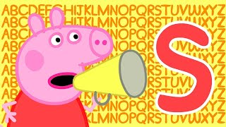 Peppa Pig 🔠 Letter S | Learn the Alphabet with Peppa Pig | ABC Letter Boxes | Learn with Peppa Pig