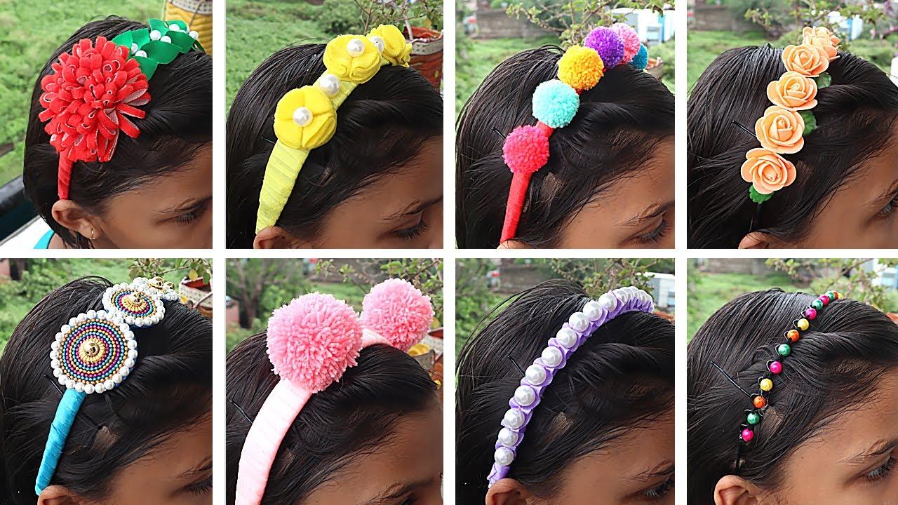 8 Fancy & Trendy Hair Belt Making at Home ! DIY Hair Belt !! Girly Crafts !!! Sonali's Creations