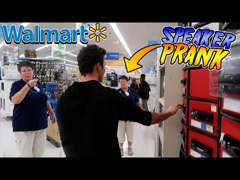 INSANE WALMART SPEAKER PRANK! (How To Get Banned From Walmart)