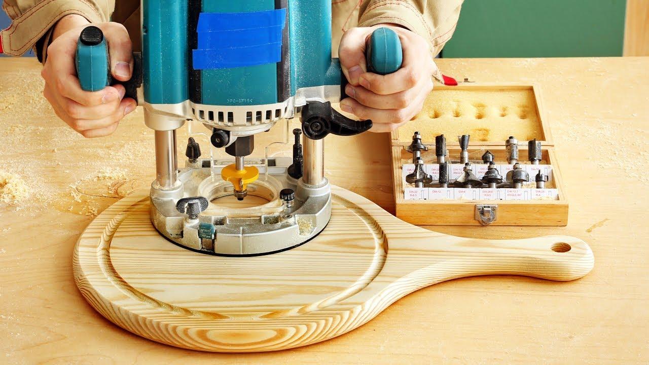 Фрезерование разделочной доски и паза по кругу, milling round groove in a cutting board