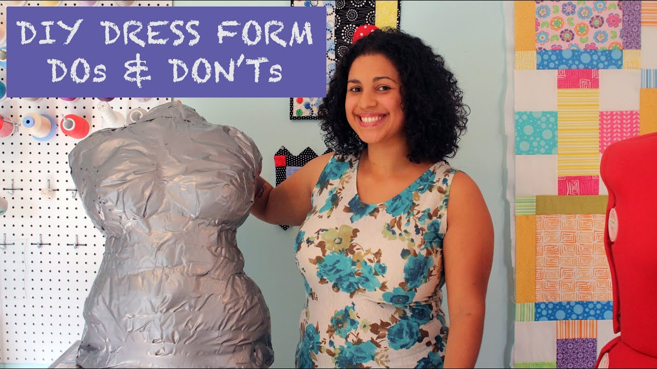 DIY Duct Tape Dress Form DOs & DON'Ts & GIVEAWAY! - YouTube