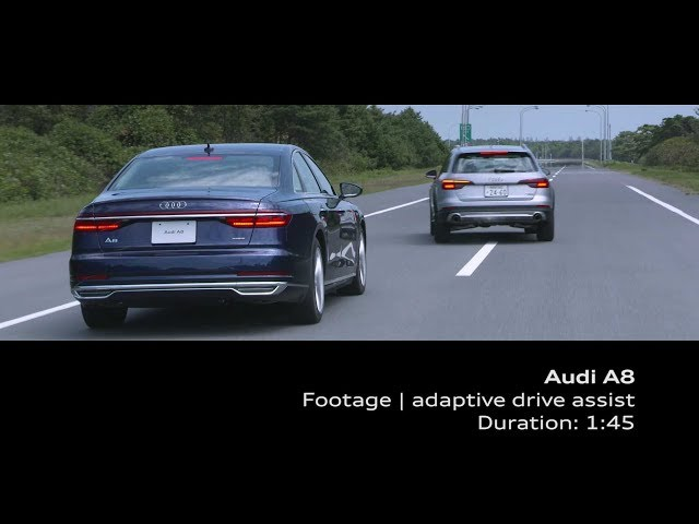 Audi A8 Footage_adaptive drive assist