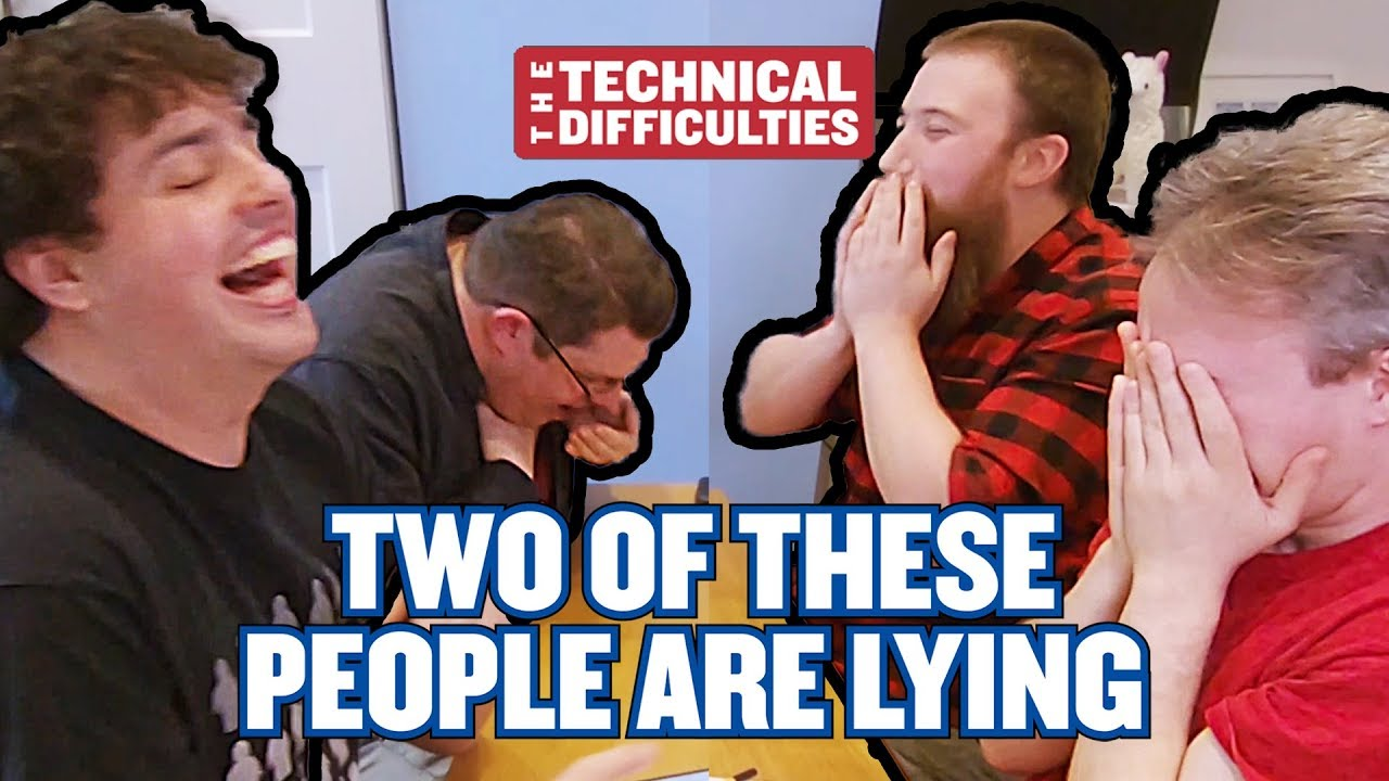 Youtube Thumbnail Image: Meatballs, Noseflutes and Judith | Two Of These People Are Lying 1x01  | The Technical Difficulties