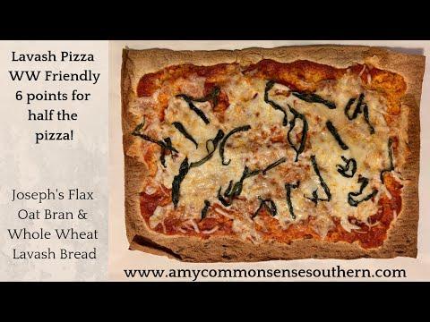 Lavash Pizza with Joseph's Flax Oat Bran & Whole Wheat Lavash Bread